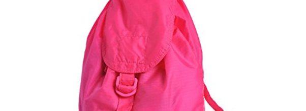 Tofern Damen täglichen Gebrauch Tasche Reiserucksack leichte faltbare Rucksack Aufbewahrungsbeutel-Rosenrot