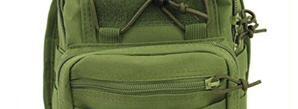 Multifunktionale wasserdichter Rucksack Tasche Brust Tasche taktische Sling Bag Outdoor-Produkt oliv