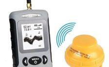 LeaningTech Digital Kabelloser Fisch-Finder Sonar Radio Sea Bett Contour Live upate 131 ft/40 M mit wasserdichte Tasche